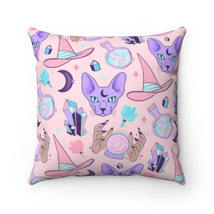 """PASTEL WITCH"" DECOR PILLOW"