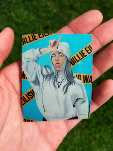 """WARNING! BILLIE EILISH"" STICKER"