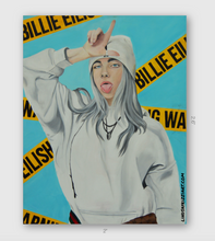 "Load image into Gallery viewer, ""WARNING! BILLIE EILISH"" STICKER"