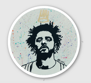 """KING COLE VINYL RECORD"" STICKER"