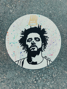 KING COLE ORIGINAL VINYL RECORD PAINTING