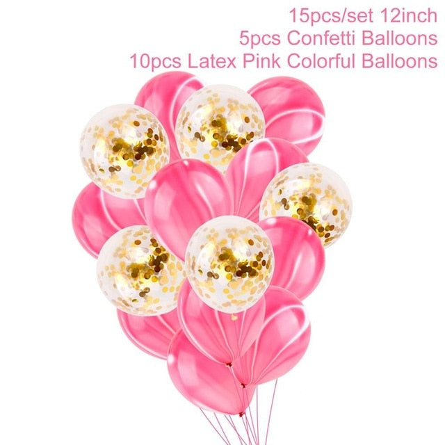 Load Image Into Gallery Viewer FENGRISE 2nd Birthday Party Decoration Pink Girl 2 Balloons
