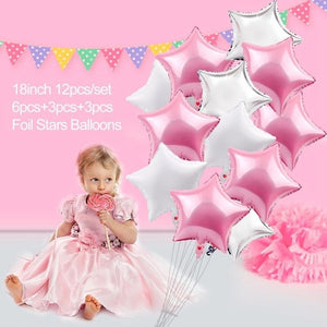 FENGRISE 2nd Birthday Party Decoration Pink Girl 2 Balloons Number Balloon Year Old Kids