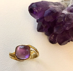 Amethyst Cushion Ring