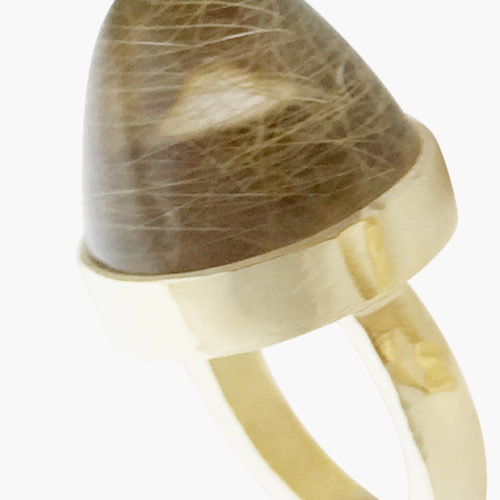 The Rumplestiltskin – Rutilated Quartz Gold Ring