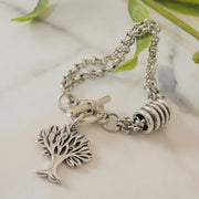 Tree of life barrel bracelet