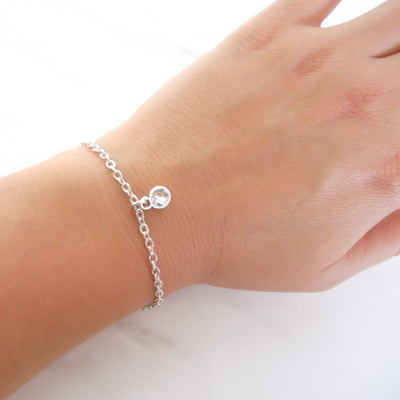 With Love bracelet - Swarovski crystal, silver