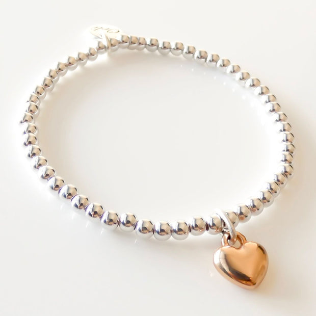 Beads and heart bracelet - Orli Jewellery