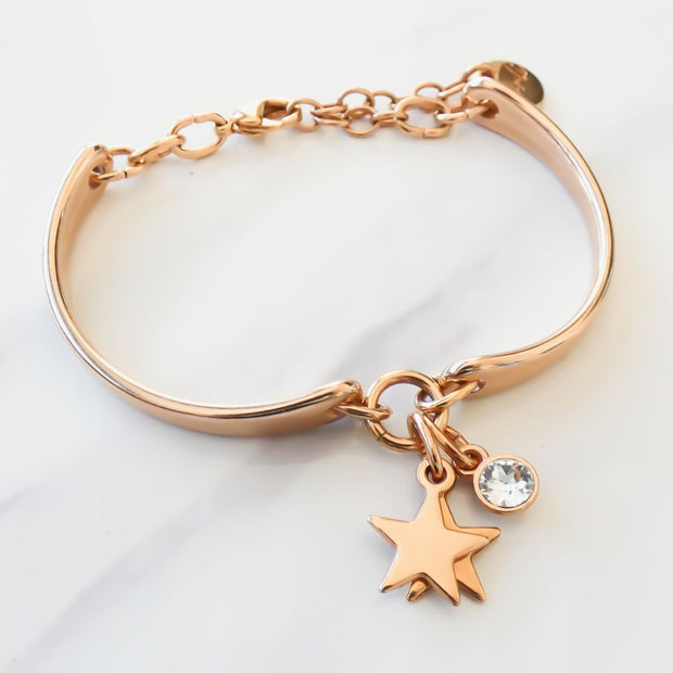 Twin stars and crystal brangle, rose gold