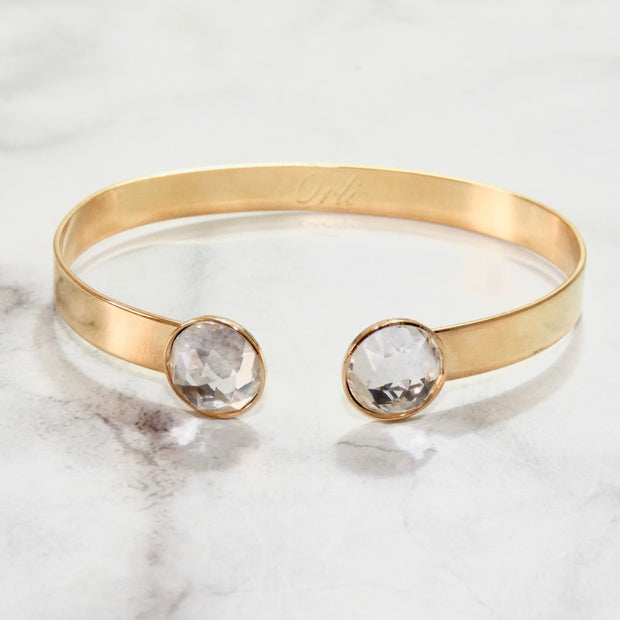 Twin Swarovski crystals bangle