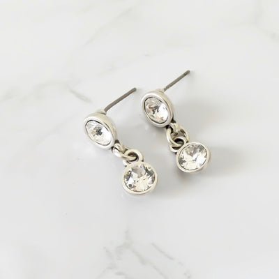 Crystal drop stud earrings - Orli Jewellery