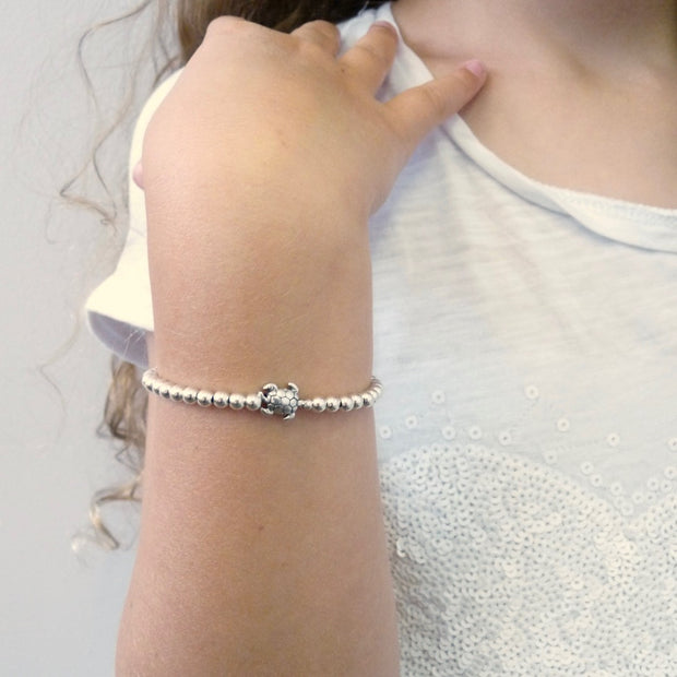 Girls beads and turtle bracelet - Orli Jewellery