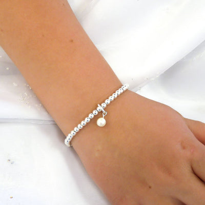 Children's beads and pearl charm bracelet - Orli Jewellery