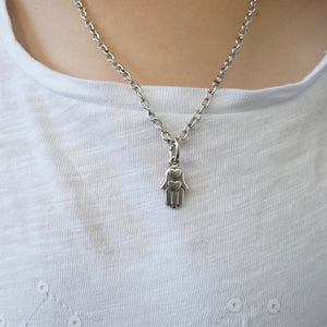 Girls hamsa necklace