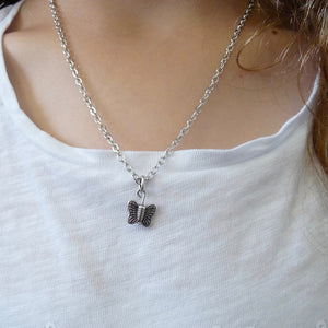 Girls butterfly necklace