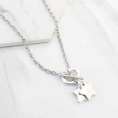 Twin stars necklace