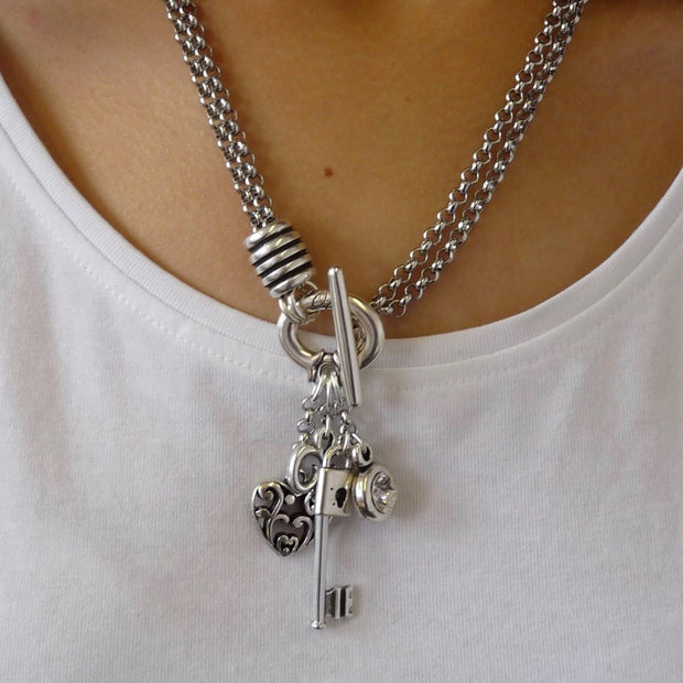 Key to my heart double necklace - Orli Jewellery