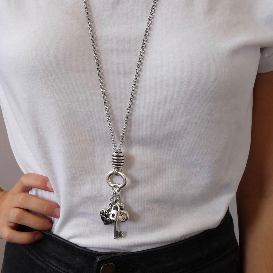 Key to my heart double necklace