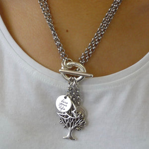 Tree of life double necklace