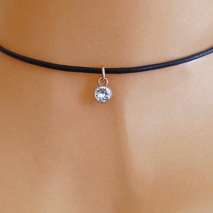 Rose gold Swarovski crystal choker, various colours