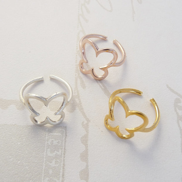 Mini butterfly ring, various colours - Orli Jewellery