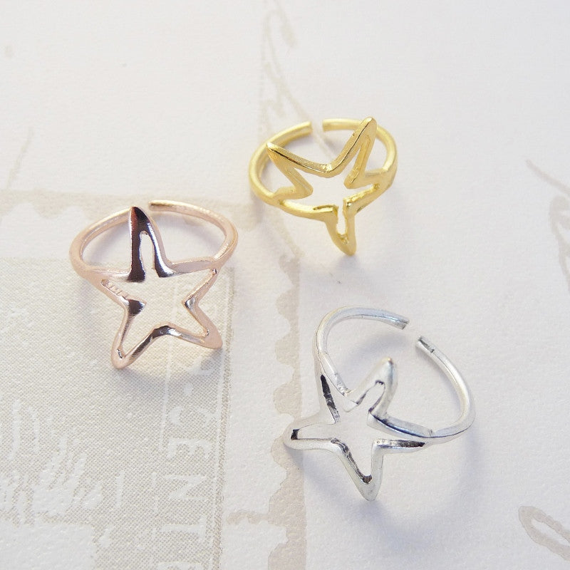 Mini star ring, various colours - Orli Jewellery