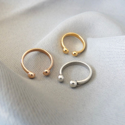 Double ball expandable ring - Orli Jewellery