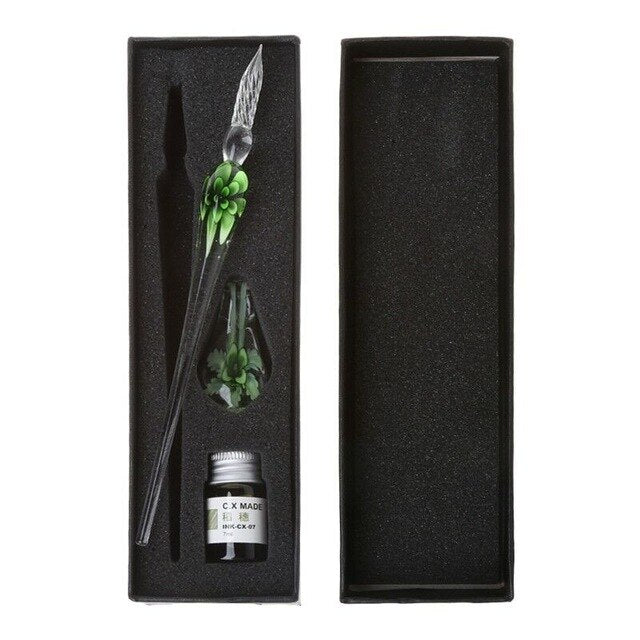Glass Calligraphy Pen Set