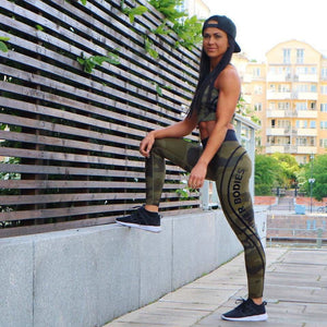 Camouflage Stripe Fitness sexy Leggings