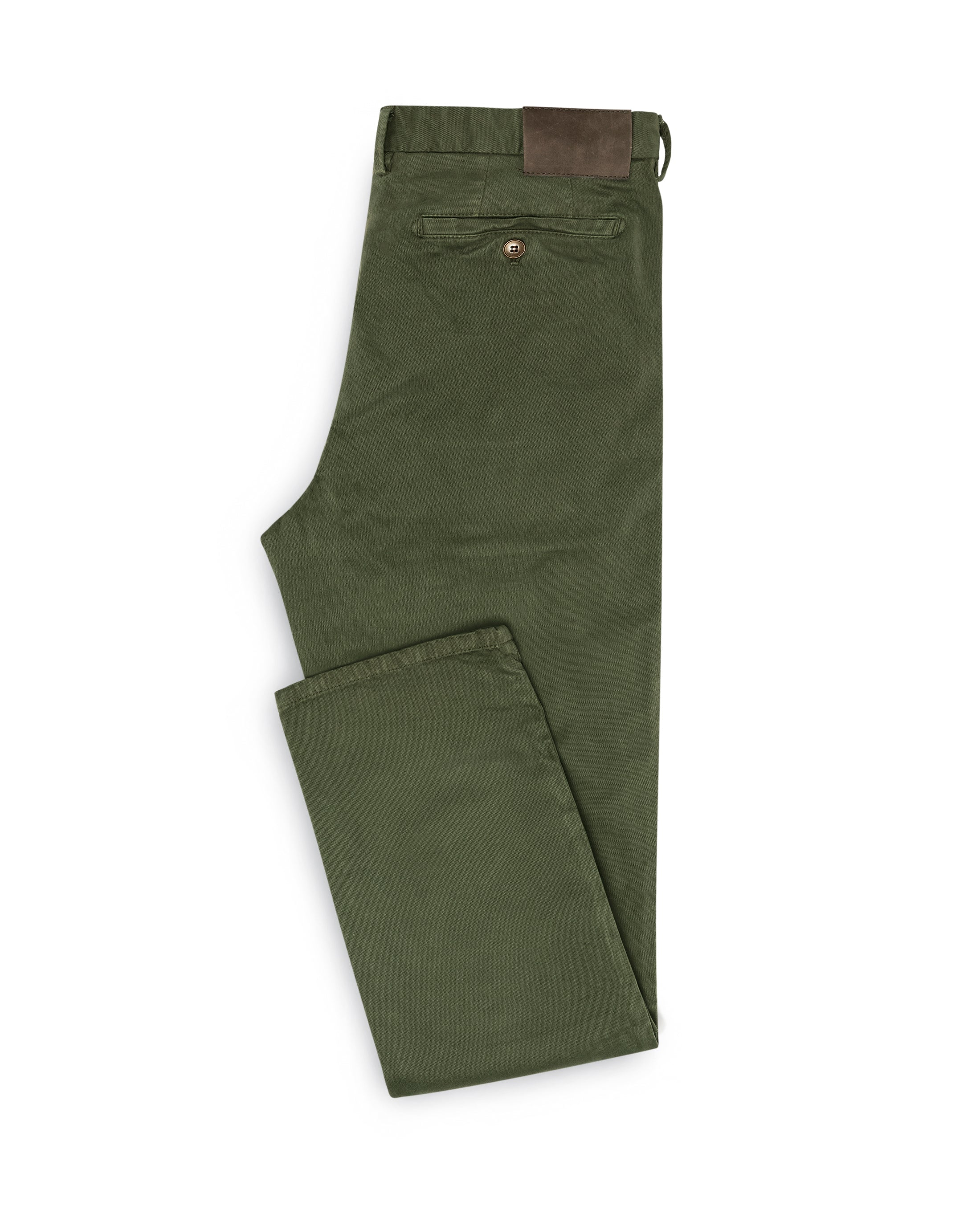COG004 Olive Stretch chino Made In Italy. Medlemspris 1.100,-