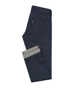 DEN001 Raw Selvedge denim 5 pocket, Made In Italy. Medlemspris 1.200,-