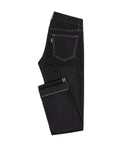 DEN005 Black Selvedge stretch 5 pocket, Made In Italy