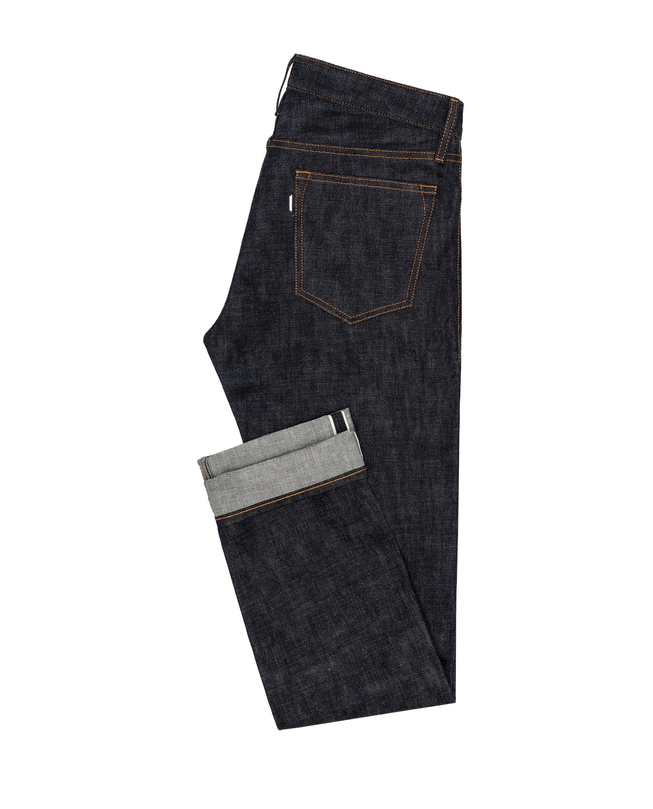 DEN008 Raw Selvedge 5 pocket, Made In Italy. Medlemspris 2.400,-