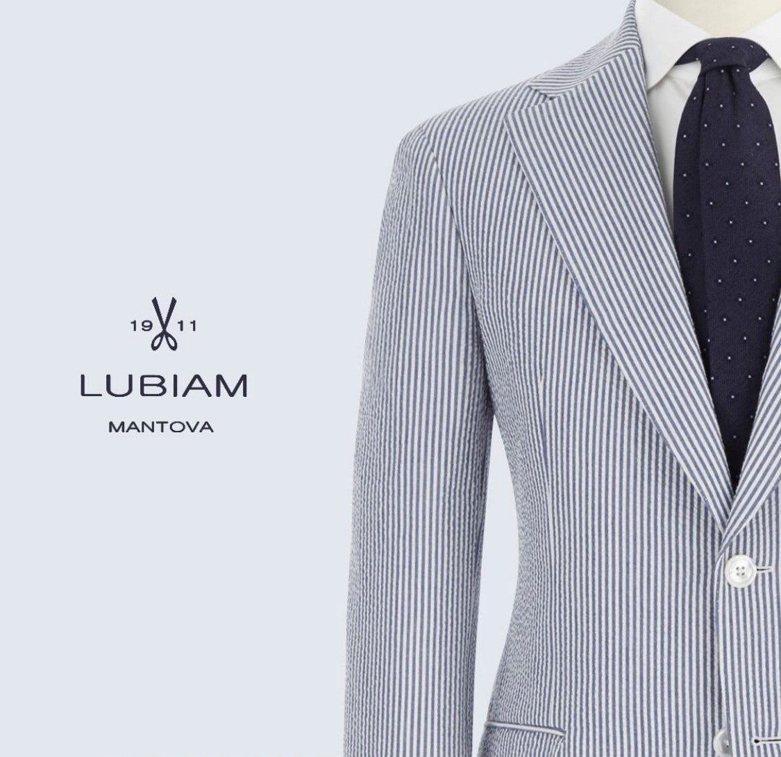 Luigi Bianchi Mantova Made-to-measure suit. Laurus LuxeCotton  Kollektionen (medlemspris 8.100,-)