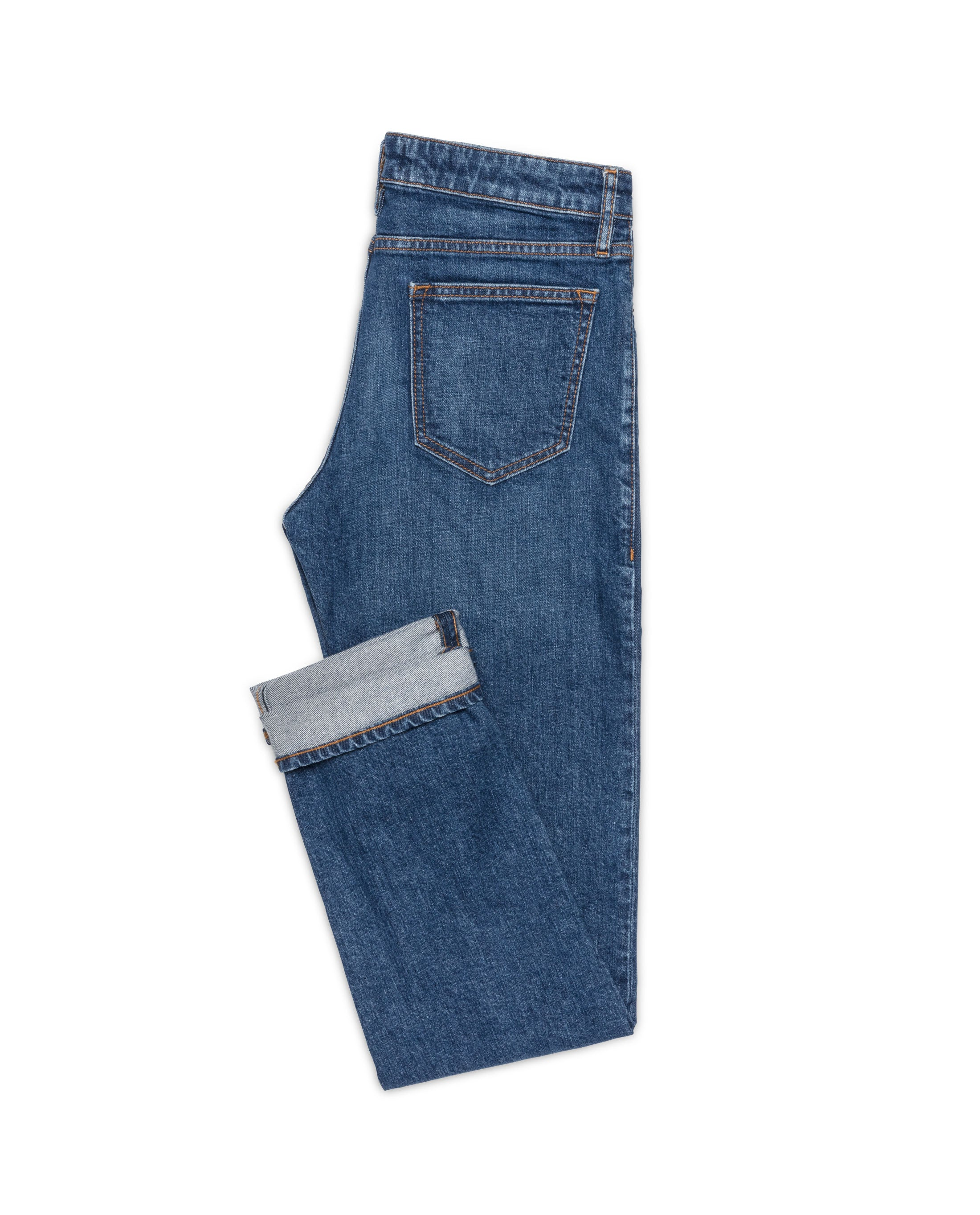 WAS004 Mid Blue stretch 5 pocket, Made In Italy. Medlemspris 1.100,-