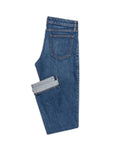 WAS004 Mid Blue stretch 5 pocket, Made In Italy