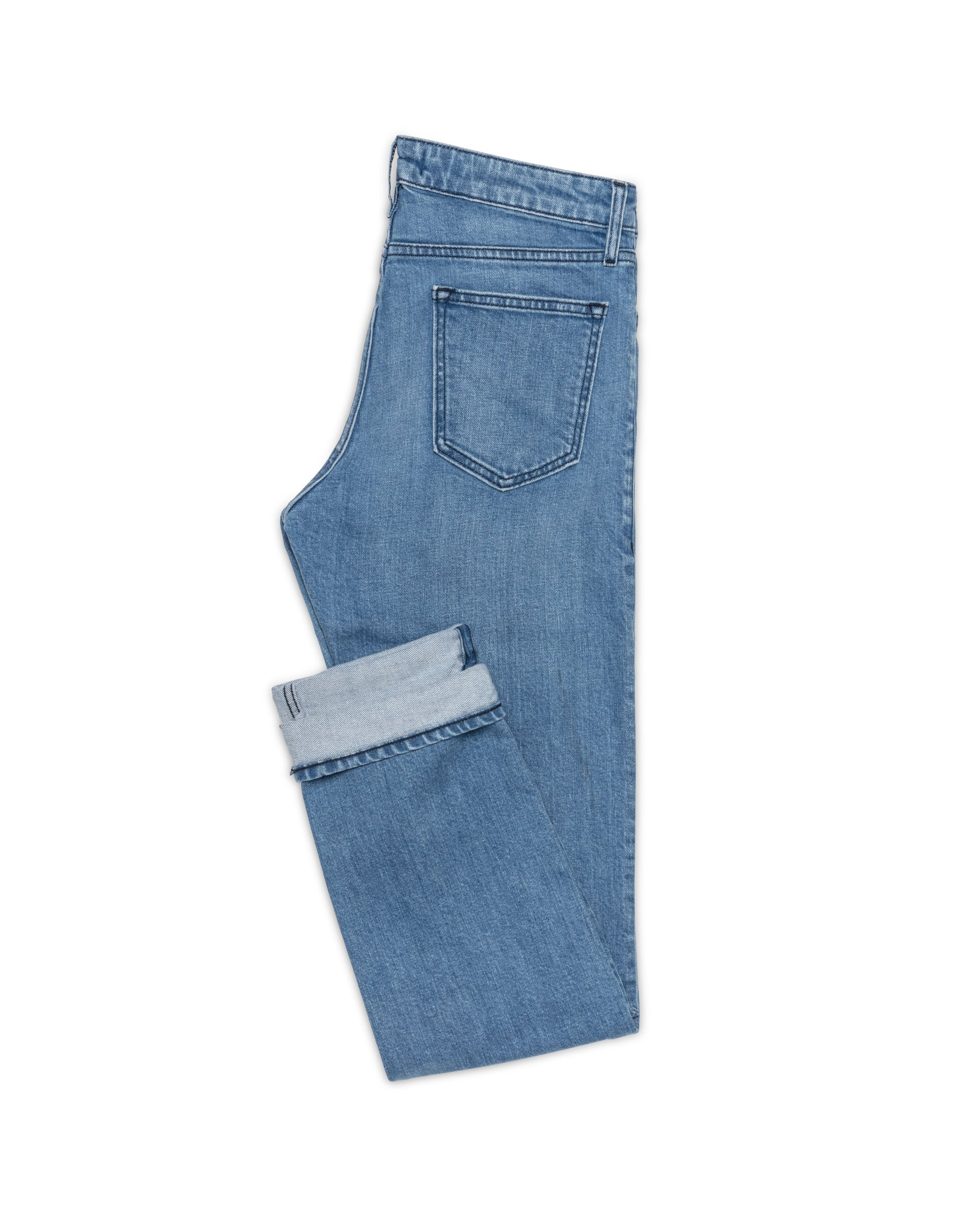 WAS005 Used Blue stretch 5 pocket, Made In Italy. Medlemspris 1.100,-