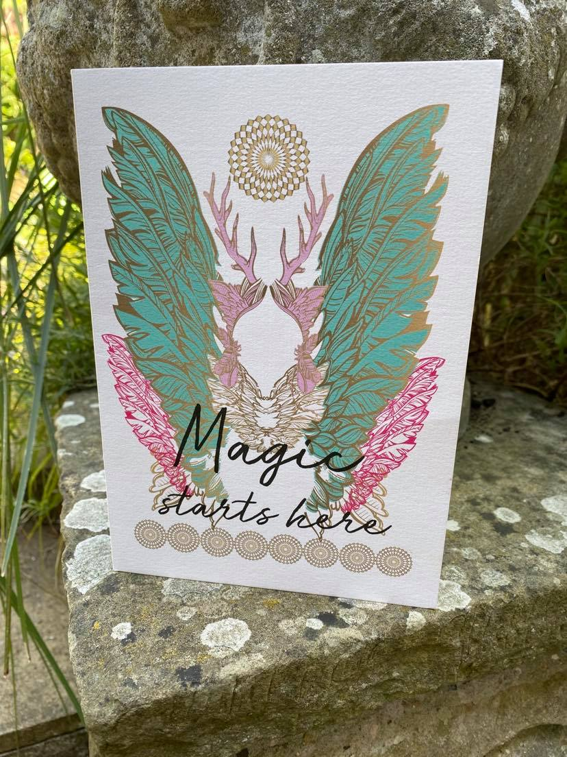 Greeting Card ~ Magic Starts Here Red Tent Tribe