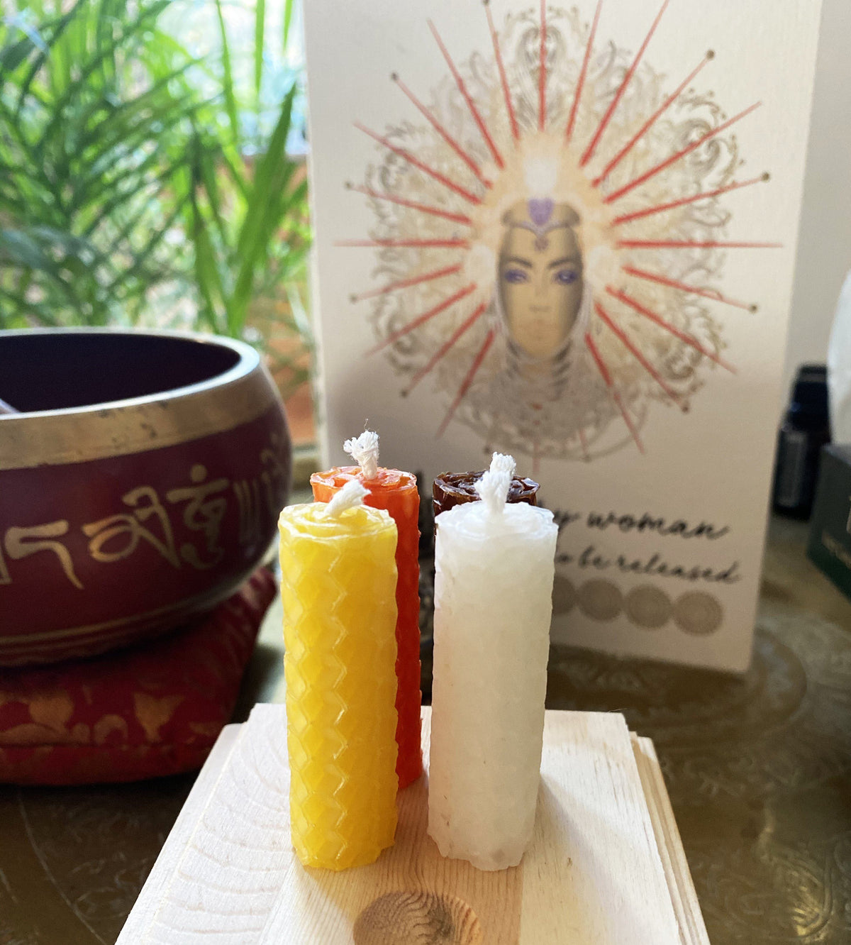 Moment Candle ~ Gift Set Red Tent Tribe