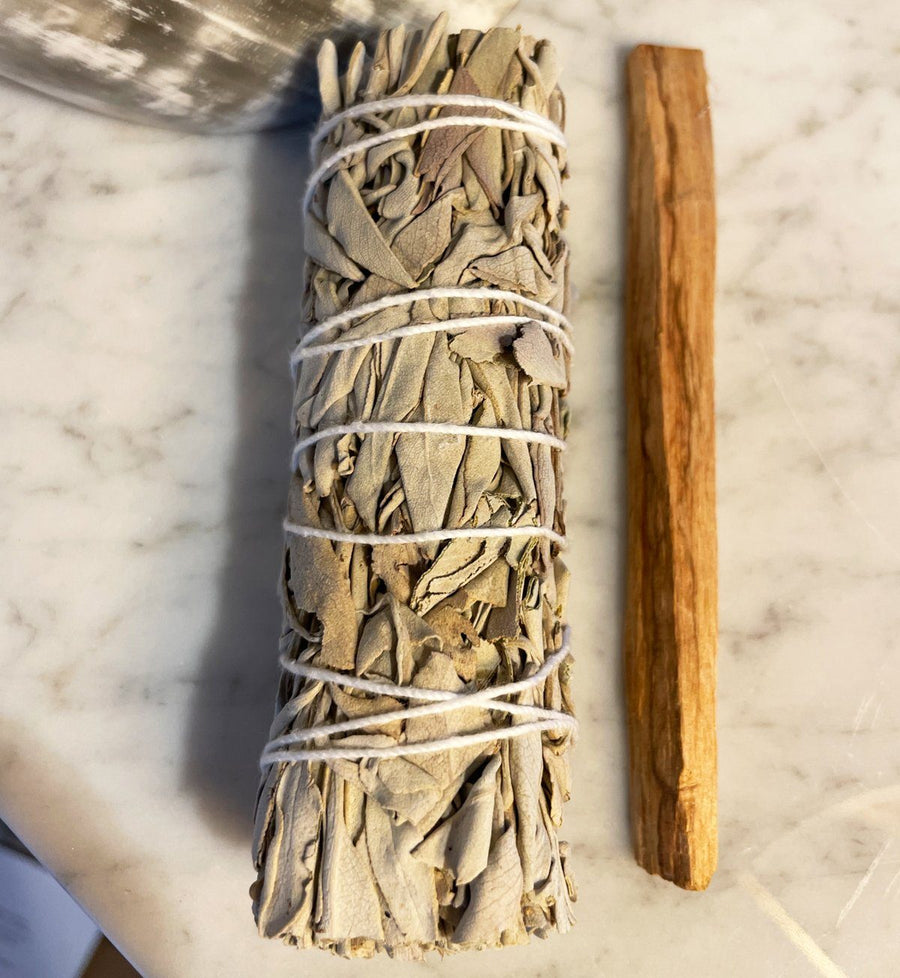 White Sage + Palo Santo Bundle in a Satin Bag Red Tent Tribe