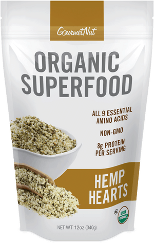 ORGANIC Hemp Hearts 4pk of 12oz Bags