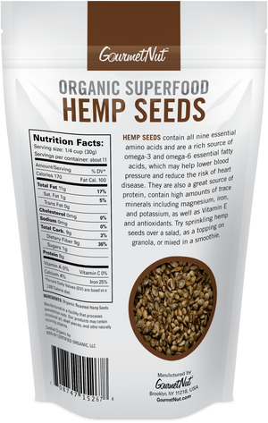 ORGANIC Hemp Seeds 4pk of 12oz Bags
