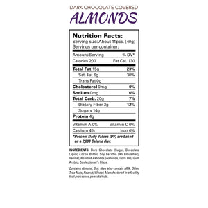 7oz Chocolate Covered Almonds 6 Pack