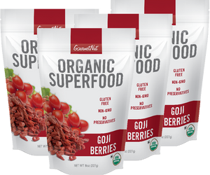 ORGANIC Goji Berries 4pk of 8oz Bags