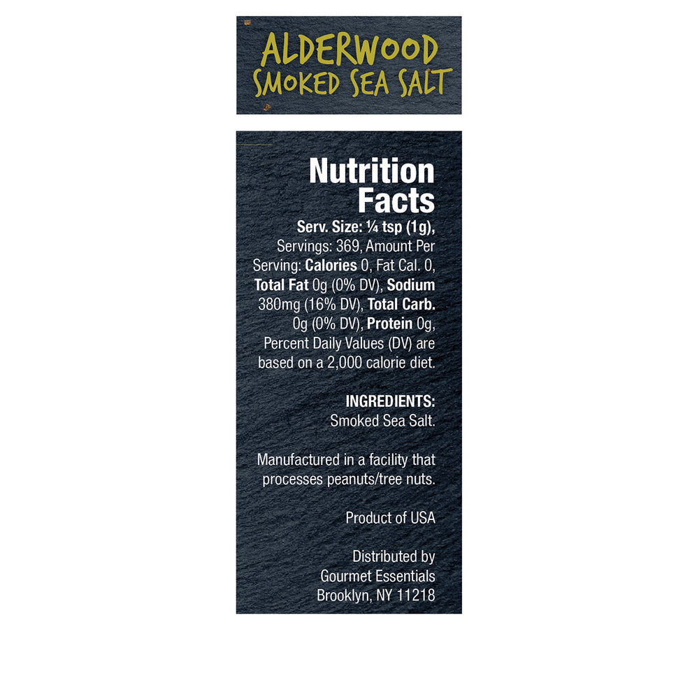 Alderwood Smoked Sea Salt 6 Pack (13oz each/78oz Total)