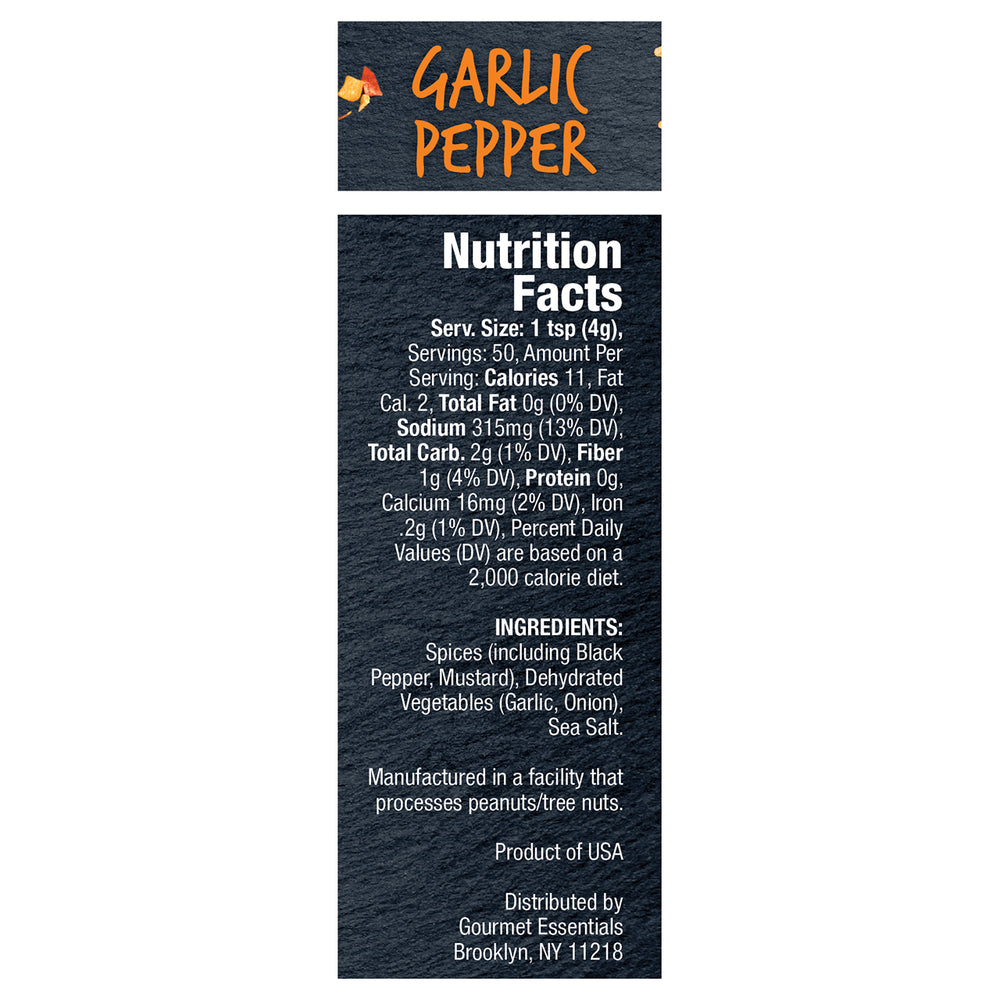 Garlic Pepper 6 Pack (7oz each/42oz total)