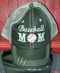 Distressed Sports Mom Cap