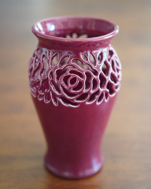 Rose Vase in Red