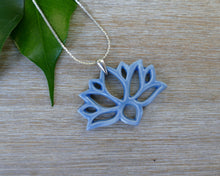 Load image into Gallery viewer, Lotus Necklace in Sky Blue