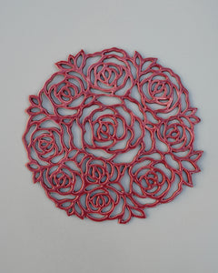 Rose Wall Art in Red